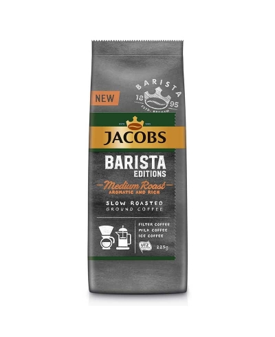 Jacobs Barista Medium Roast zrnková káva 225g